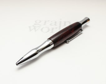 Ballpoint Pen - Virage Style - Cocobolo Wood with Chrome Accents (Gift Ready)