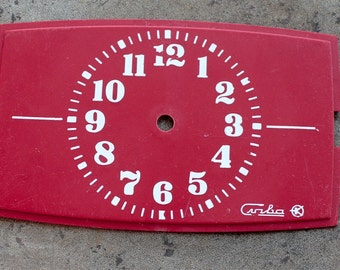 Vintage Alarm Clock Face from 1980's -- plastic