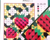 Easy Seasonal Wall Quilts 24 Rotary-cut Pictorial Projects with Quilt Charts by Deborah J Moffett-Hall