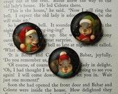 Squirrel Brooch - Christmas Pin - Christmas Squirrel Brooch - Squirrel Portrait Brooch - Singing Squirrels