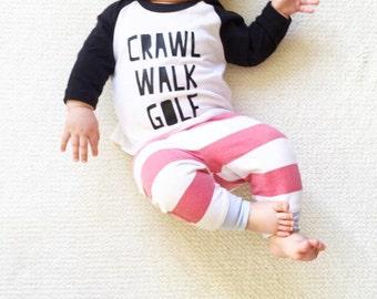 Golf Tee Tshirt - American Apparel - Super soft Baby Toddler Kids children short sleeves