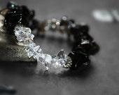 Crystal Bracelet, Protection Bracelet, Smokey Quartz Bracelet, Meditation Jewelry, Yoga Jewelry, Gift for Her, Stretch Elastic Bracelet