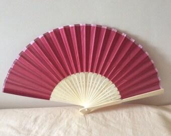 Regency/Victorian Style Fan. Deep Red. Bridal Favour.