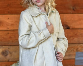 Little Girl's Organic Color-grown Cotton Coat with Kissing Fish Lining -- Sizes: 2t, 4t, 6