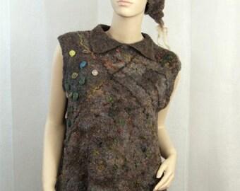 Wool Felted Beret Boho Style
