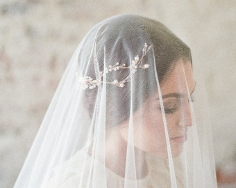Wedding veil, tulle circle veil, soft tulle veil, drop veil, ADA