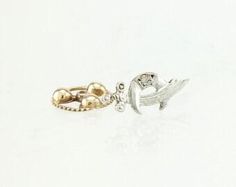 Shriner 14K Gold & Diamond Masonic Vintage Lapel Pin