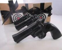 Gun Soap -  gift for him, valentines for man,  men's soap, gift for men