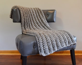 Beth Blanket in Grey Marble - Perfect Shower or Housewarming Gift