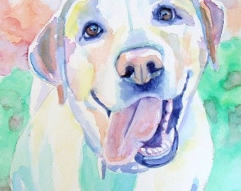 Custom Dog Portrait Watercolor Painting - The Perfect Gift!