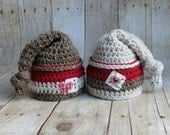 Valentines Day Newborn Baby Boy Photo Prop Hat - Twin Photo Prop Hats - Newborn Knot Hat READY TO SHIP