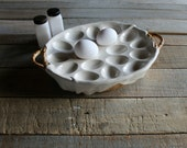 Vintage Egg Holder / Deviled Egg Tray