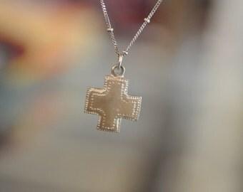 Sterling Silver Southwest Cross Necklace