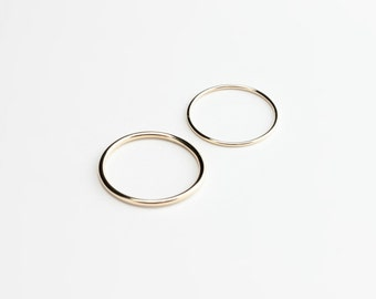 Essential - gold ring - round band yellow gold ring - minimalist wedding band