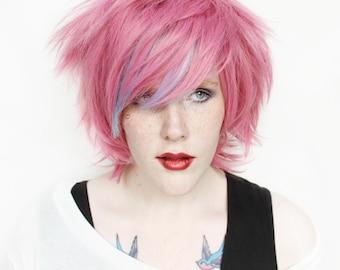 SALE Pink wig | Short Pink wig, Scene Emo wig | Pink Scene wig, Kawaii wig | Pink Topaz