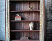 Large Bookcase Reclaimed Indian Door Frame Elephant Detail Moroccan Decor Turkish Interior Import Furniture