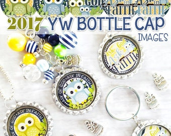 2017 YW Bottle Cap Images, BOTTLECAP, Birthday Gift Idea, LDS 2017 Mutual Theme, James 1:5-6, Ask of God - Printable Instant Download