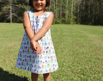 Toddler Girl Clothing - Blue - Toddler Dress - Cotton