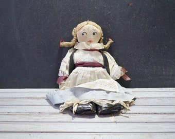 Vintage Handmade Cloth Doll