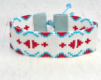 Seed Bead Bracelet - Womens Bracelet - Bohemian Bracelet - Hippie Bead Bracelet - Bohemian Jewelry - Gifts Under 30 - 4th of July - CIJ