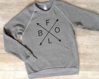 Buffalo Sweatshirt BFLO Sweatshirt Buffalove 716 Wny Ny Rustbelt Alternative Apparel Sweatshirt