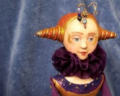 Royal Jester Clown Harlequin doll: Jane Foole