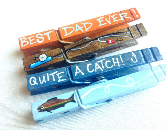 Best dad ever clothespin painted magnet fishing quite a catch for Best magnets for magnet fishing