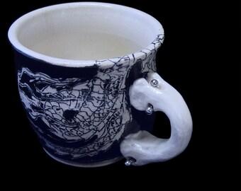 Dragon Tattoo Mug with Piercings v2.0 12oz 350ml