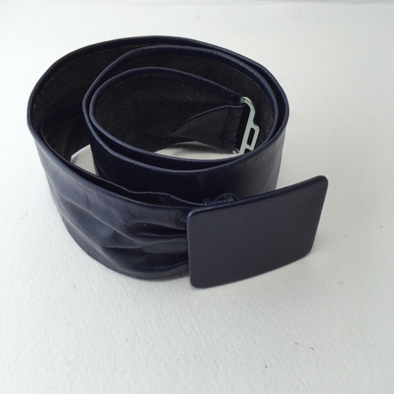 wide leather belt s dress belt astor navy blue