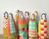 Reserved for DR. Adrienne - Custom Medical staff Portrait - Soft sculpture dolls -Timo handmade
