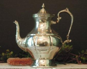 Vintage Silver Plate Coffee / Hot Water / Tea / Hot Chocolate Silver Plate Urn / Coffee Pot / Coffee House
