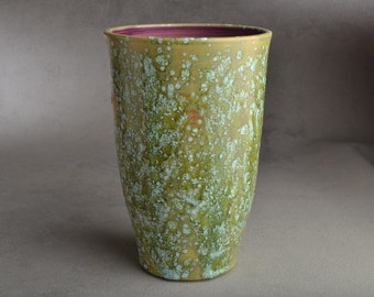 Vase: Wheel Thrown Patina Vase by Symmetrical Pottery Ready To Ship