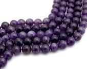 Amethyst Gemstone Beads, 8mm Full Strand, 24 pcs