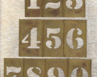 "2.5"" Brass Stencil Pick your Number ready to alter or collage"