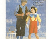 Simplicity 8334 Adult Pinoccio and Geppeto 80s Costume Sewing Pattern Chest Bust 36 to 38