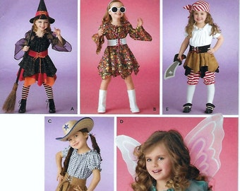Simplicity 3680 Child's Costume Sewing Pattern Chest Breast 22 to 27 Witch Rocker Cowgirl Fairy Pirate Wench