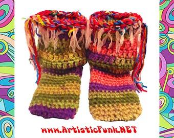 "Slipper Socks,7"" Tall, Bohemian Booties, Women's Slippers, Warm Socks, Boho, Fairy, Festival Clothes, Princess, House Shoes, Pixie, Hippie"
