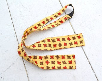1950s Yellow Silk Bow Tie