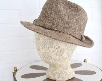 1970s Botany Wool Tweed Fedora