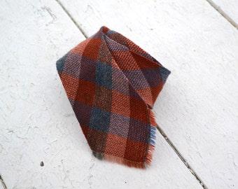 1950s Woven Check Necktie