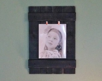 Wood Picture Frame, Rustic Wall Frame, Wall Art, Wooden Frame, Rustic Picture Frame, Rustic Decor, Distressed Frame, Home Decor, 8x10 Photo
