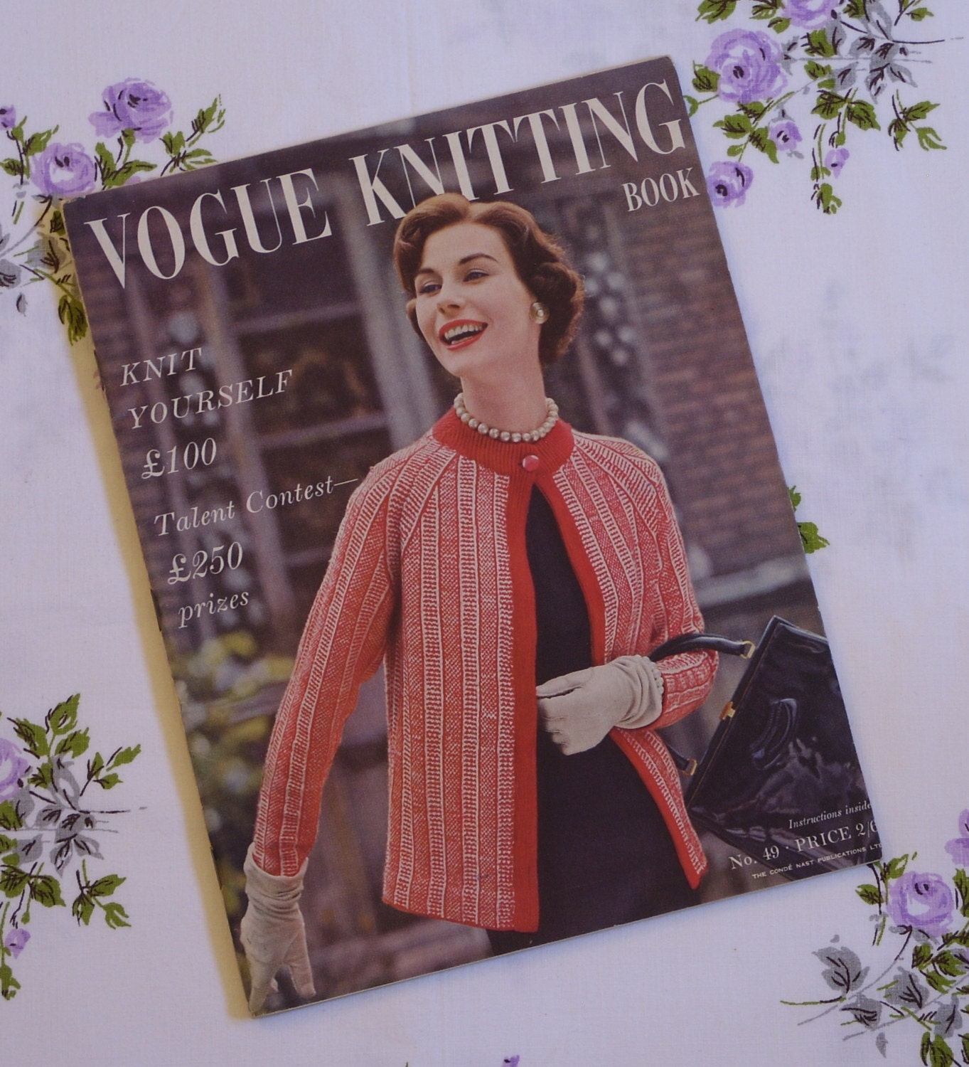Vintage Vogue Knitting Pattern Books : Vintage VOGUE Knitting Book / 1950s Knitting Patterns / 50s