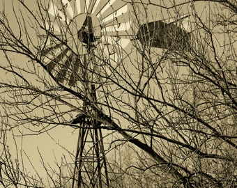 Windmill in Sepia