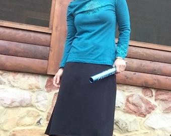 PLUS Size - Revamped Straight-A Skirt modest running skirt - COTTON