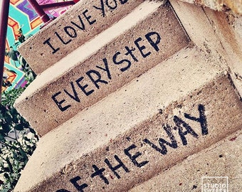 Every Step of the Way // 5x5 Love Print // Graffiti Photography