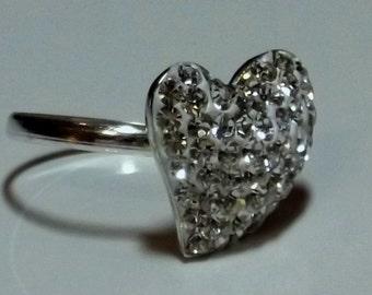 Austrian Crystal Heart Ring
