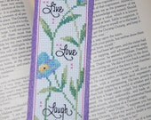 Live Love Laugh Cross Stitch Bookmark