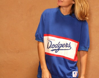 Los Angeles DODGERS vintage BASEBALL vintage 80s 90s blue red white t-shirt slouchy jersey vintage MLB top