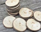 18 Rustic Wood Ornament Slices, Unsanded Wood Slices, DIY Ornaments,  Paint or Wood Burn Your Own Wood Ornaments