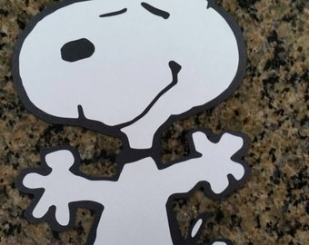 Peanuts Snoopy Wall Sign decoration Diecut Cardstock large 11.5""
